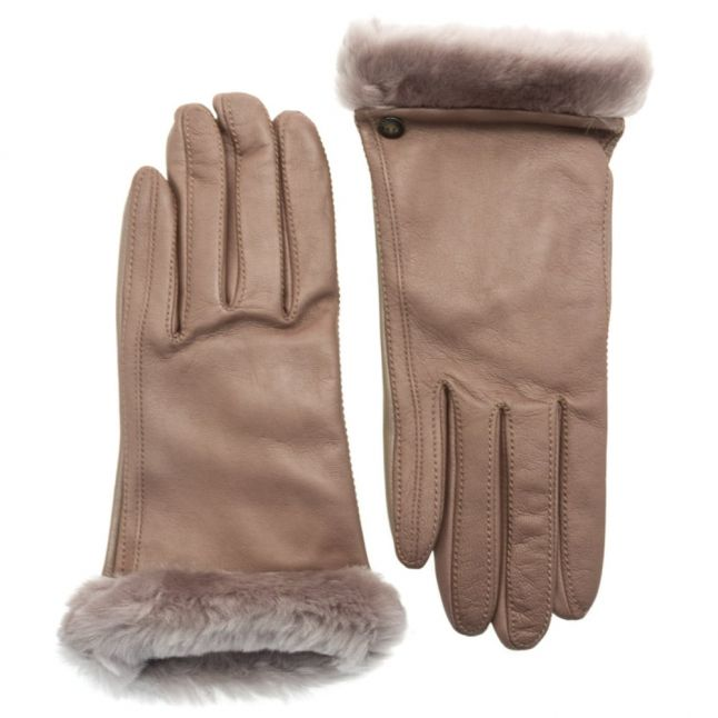 Womens Stormy Grey Classic Leather Smart Technology Gloves