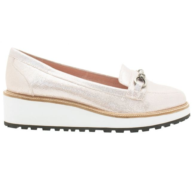 Womens Rose Gold Gia Wedge Loafers