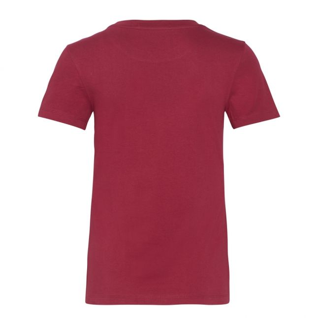 Womens Beet Red/Blossom Institutional Logo Slim Fit S/s T Shirt