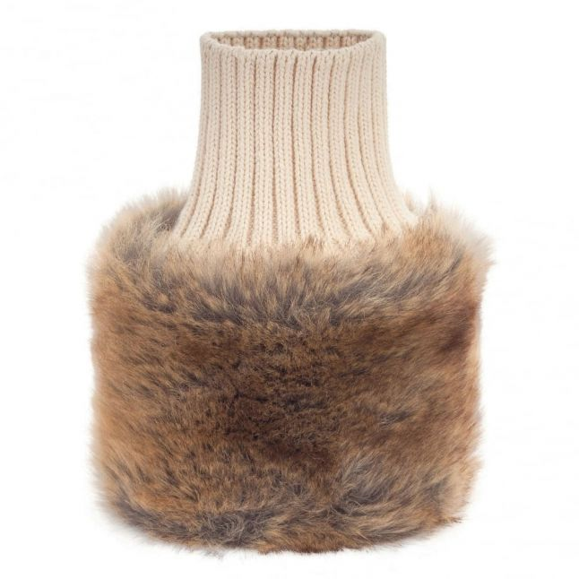 Womens Chinchilla Carton Faux Fur Arm Cuffs