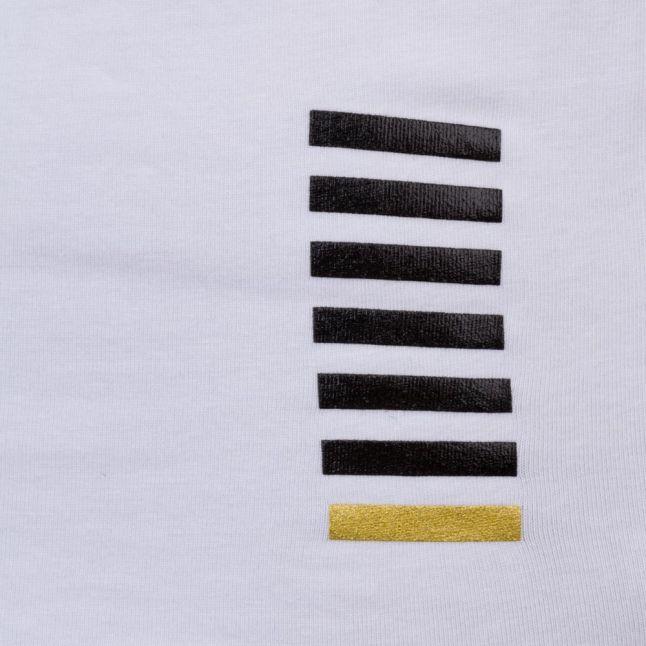 Ea7 Mens White Training Core Identity Stretch S/s Tee Shirt