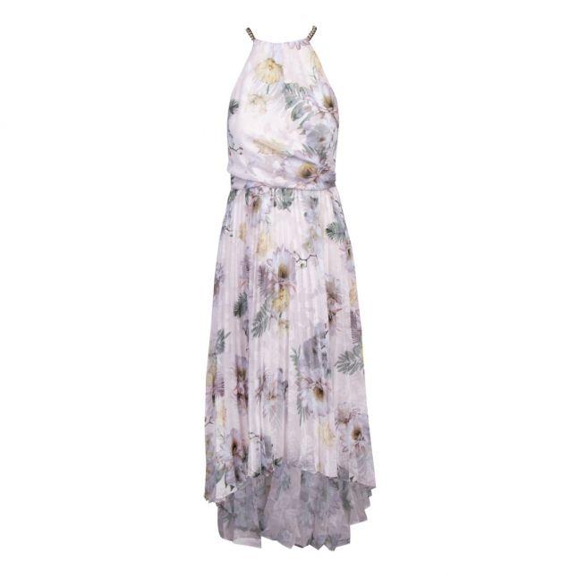 Womens Pale Pink Daniiey Woodland Pleat Maxi Dress