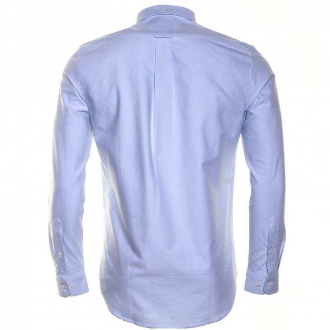 Mens Sky Blue Brewer Oxford Slim Fit L/s Shirt
