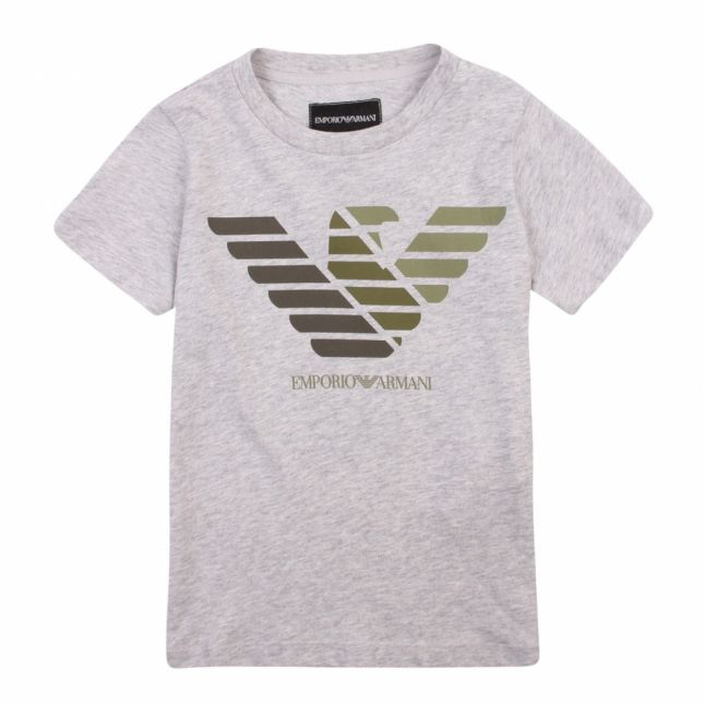 Boys Grey Melange Tri Eagle S/s T Shirt