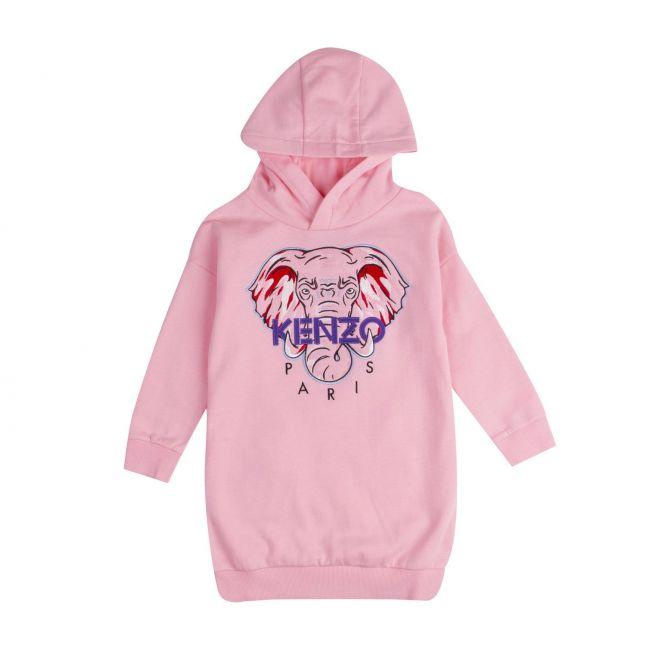 Kenzo Girls Pink Kat Elephant Sweater Dress
