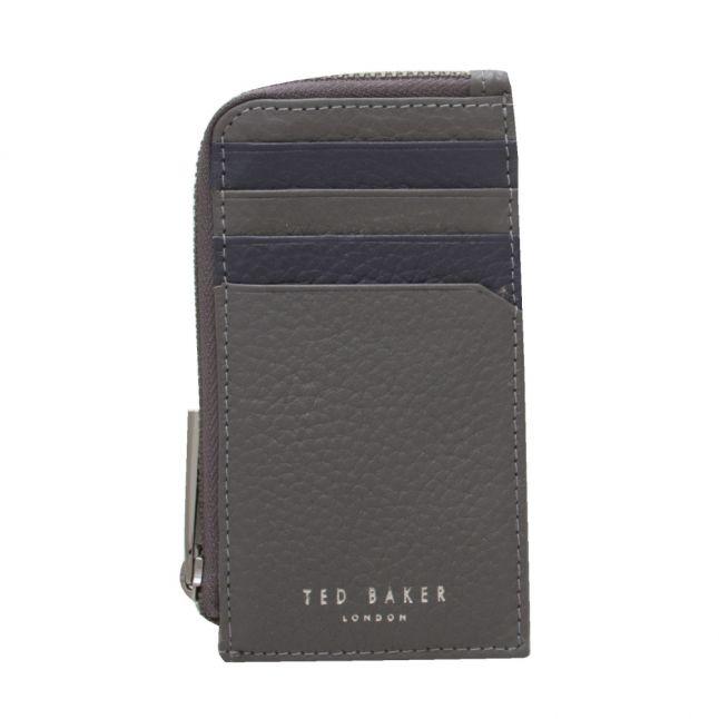 Mens Grey Worcard Zip Around Cardholder