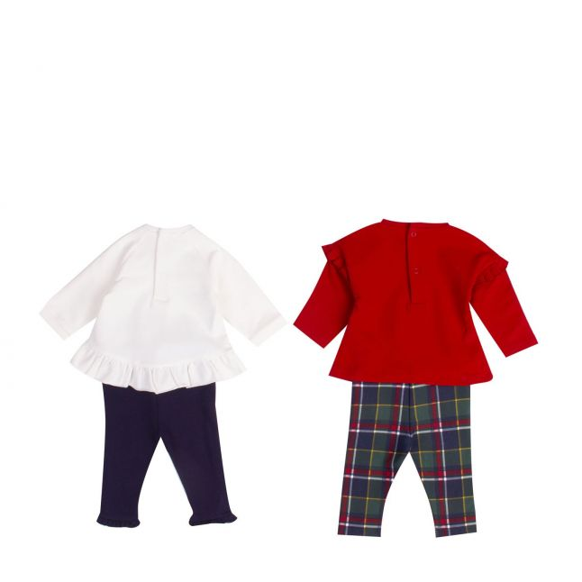Baby Red Assorted Tartan Detail 2 Outfit Set