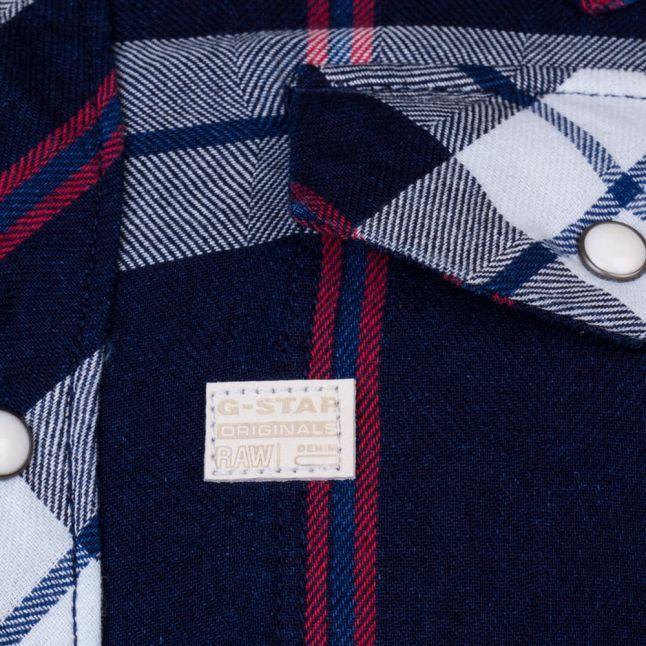 Mens Indigo & Dark Baron Tacoma Check L/s Shirt