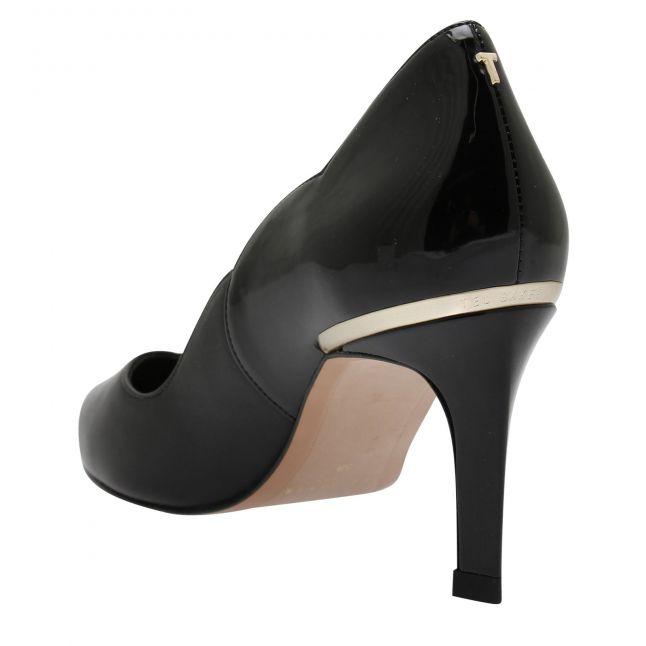 Womens Black Maysiep Scallop Heels