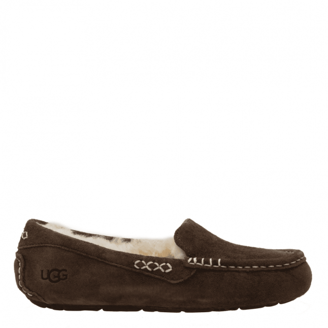 Womens Chocolate Ansley Slippers