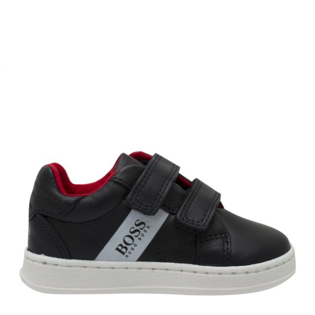 Toddler Navy Branded Velcro Trainers (20-26)