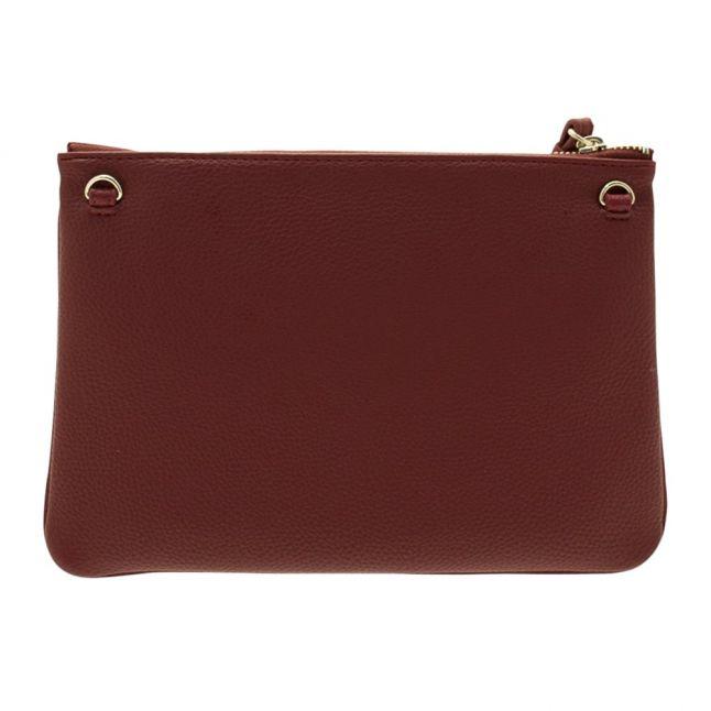Womens Burgundy Branded Clutch Bag