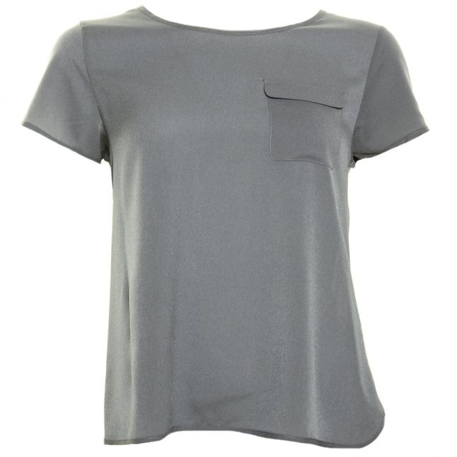 Womens Tribal Green Polly Plains Classic Pocket Top