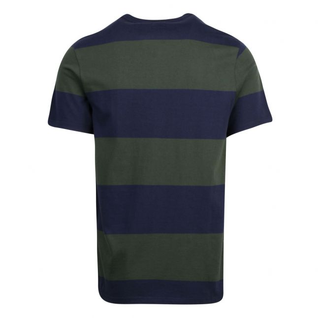 Mens Dress Blues Original Rugby Stripe S/s T Shirt