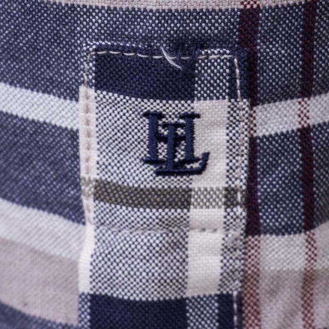 Mens Indigo Abberton Check Regular Fit L/s Shirt