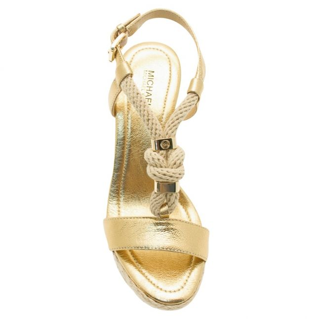 Womens Pale Gold Holly Rope Wedges