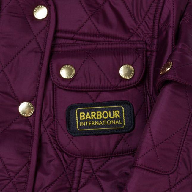 Girls Merlot International Quilted Jacket