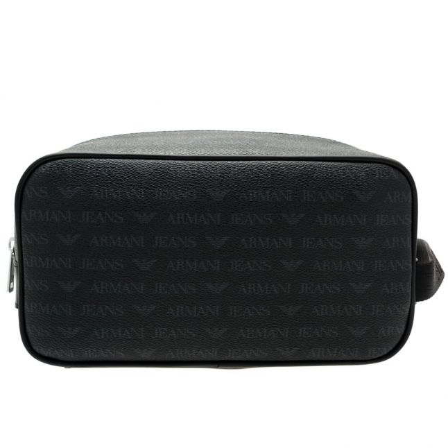 Mens Black Multi Logo Wash Bag