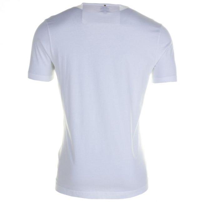 Mens White Paisley Logo S/s Tee Shirt