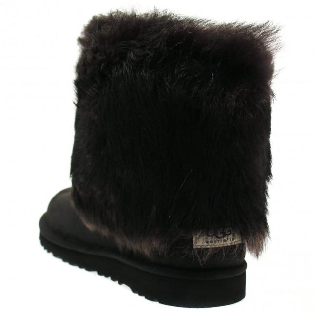 Youth Black Ellee Leather Boots (4-5)