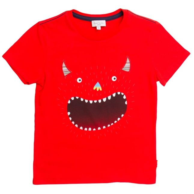 Boys Fire Red Nay S/s Tee Shirt
