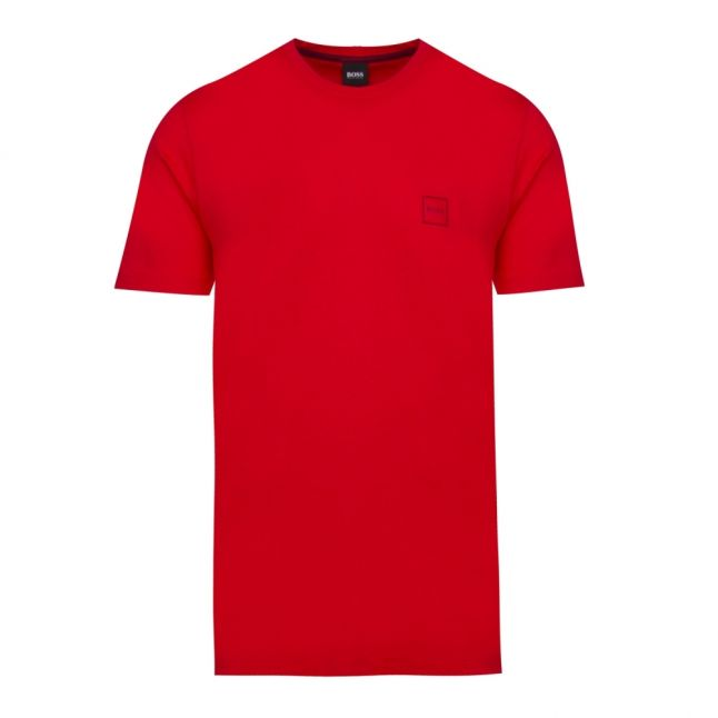 Casual Mens Bright Red Tales S/s T Shirt