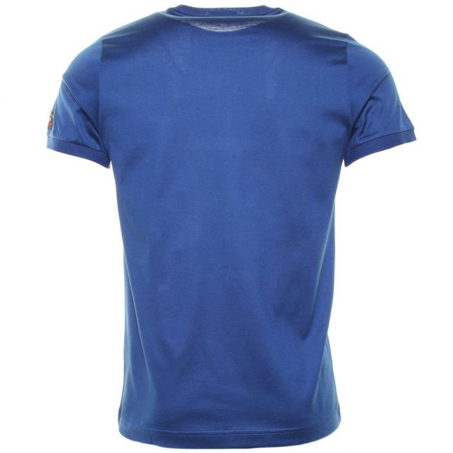 Paul & Shark Mens Colbalt Shark Fit Tonal S/s Tee Shirt