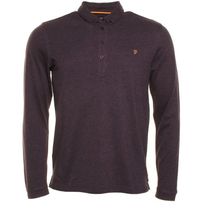 Mens Fig Marl Merriweather L/s Polo Shirt