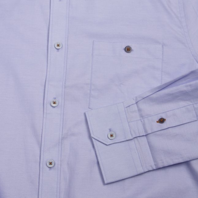 Mens Blue Yesway Oxford L/s Shirt