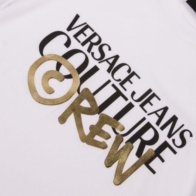 Mens White Crew Logo S/s T Shirt