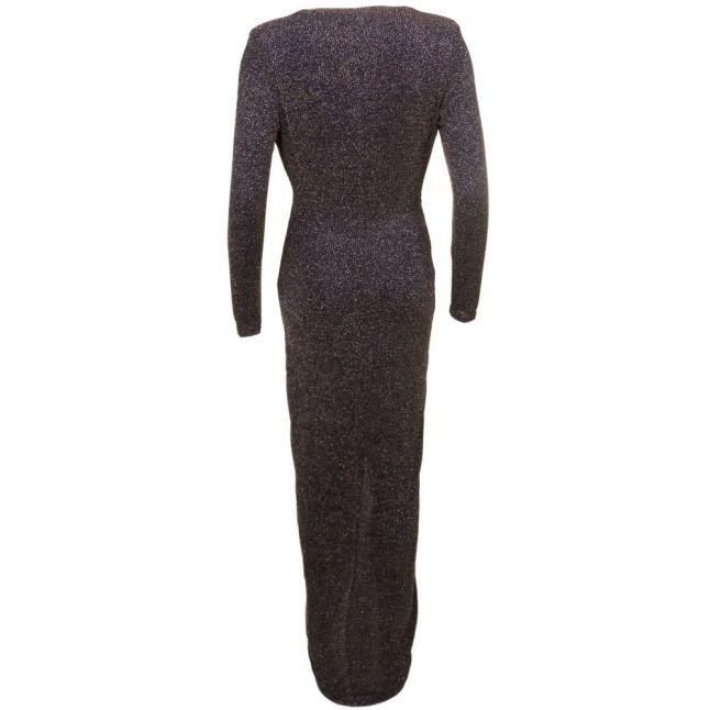 Womens Black & Gold Lola Maxi Dress