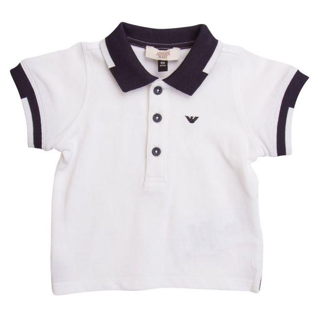 Baby White Small Logo S/s Polo Shirt
