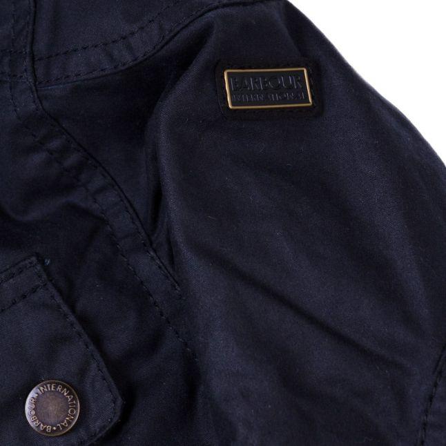 Boys Navy Rebel Waxed Jacket