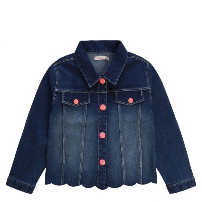 Girls Dark Blue Mermaid Denim Jacket