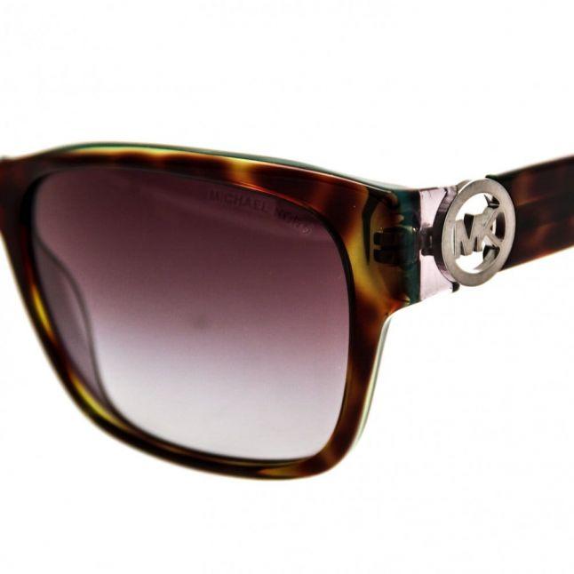 Womens Tortoise & Green Salzburg Sunglasses