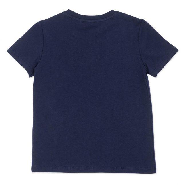 Girls Navy Basic Logo S/s T Shirt
