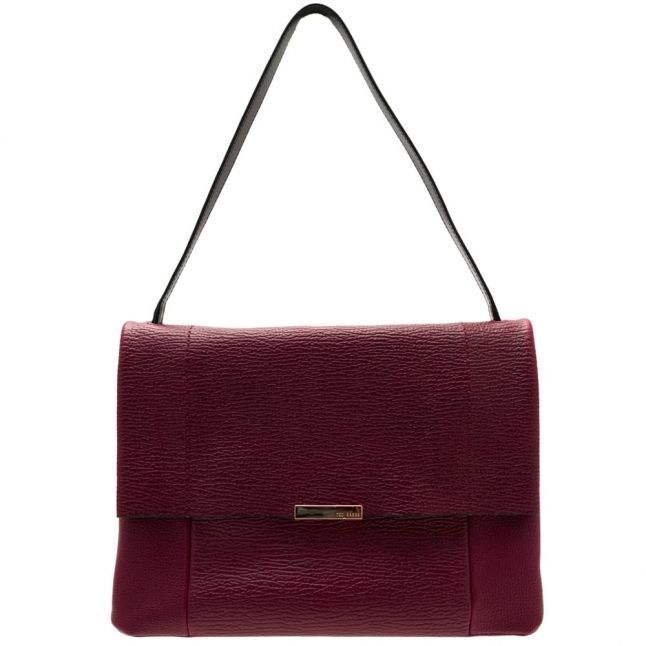 Womens Purple Proter Unlined Soft Leather Shoulder Bag
