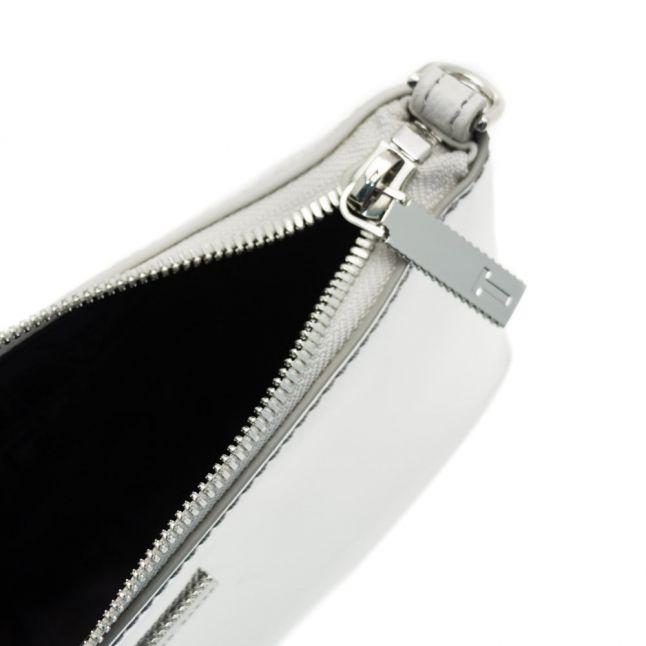 Womens Silver Alanaa Mirror Colour-Block Cross Body Bag