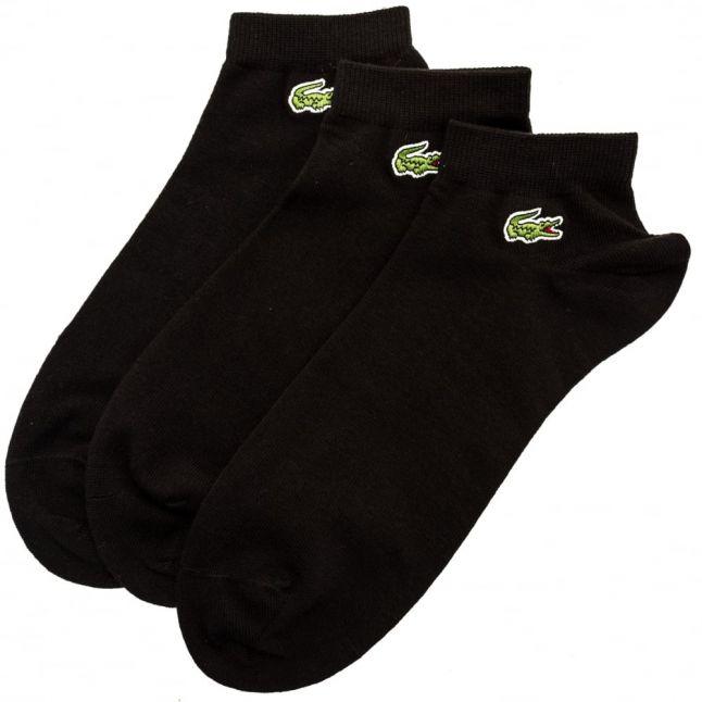 Mens Black 3 Pack Trainer Socks