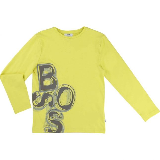 Boys Yellow Logo L/s Tee Shirt