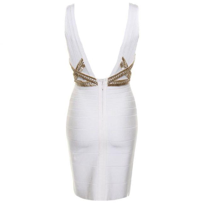 Womens Ivory Opal Bandage Dress