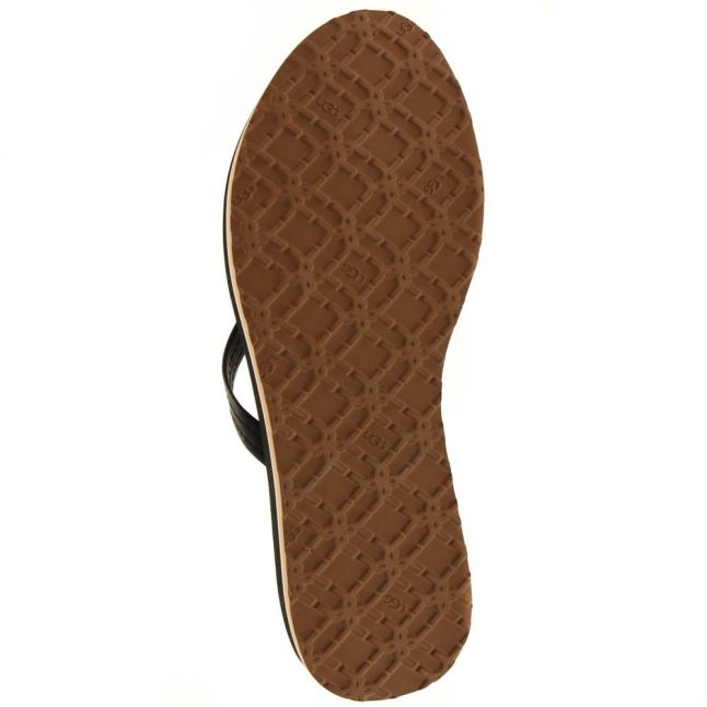Womens Black Magnolia Flip Flops