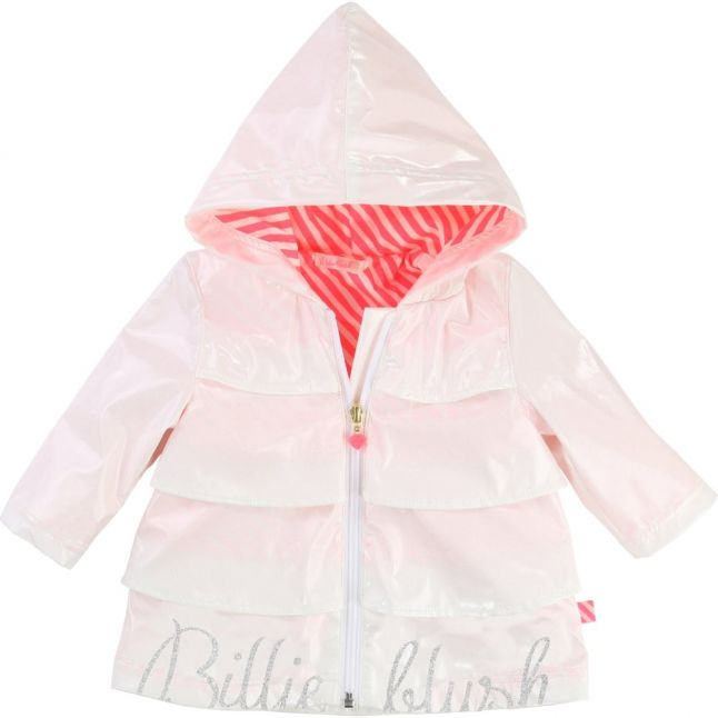 Baby White Branded Frill Jacket