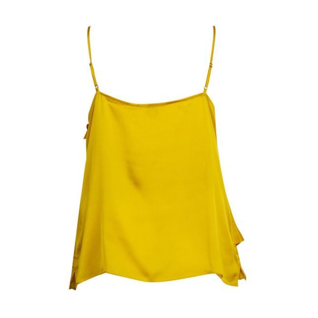 Womens Mid Yellow Lulia Frill Cami Top