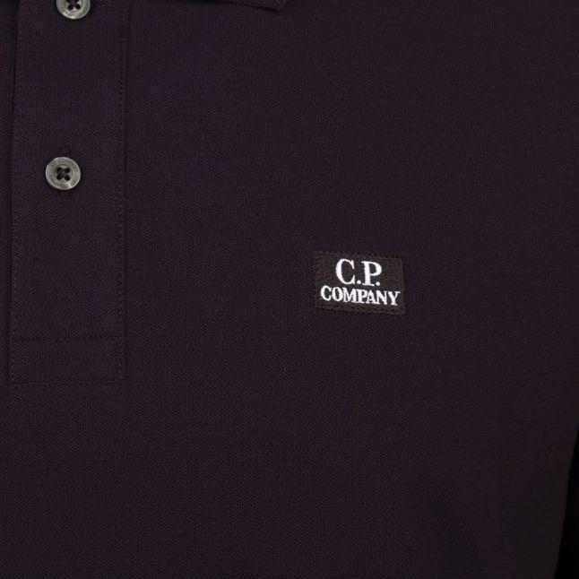 Mens Black Branded S/s Polo Shirt