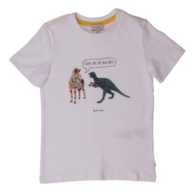 Boys White Nay S/s Tee Shirt