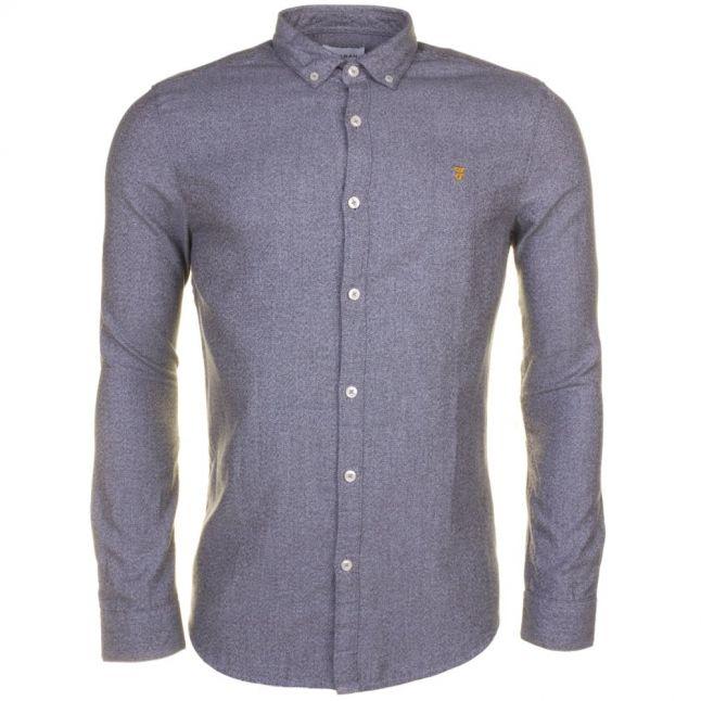 Mens Anthracite Wes Slim Fit L/s Shirt