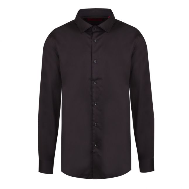 Mens Black Kenno Slim Fit L/s Shirt