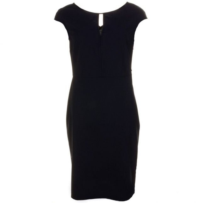 Womens Blue Fitted Dress