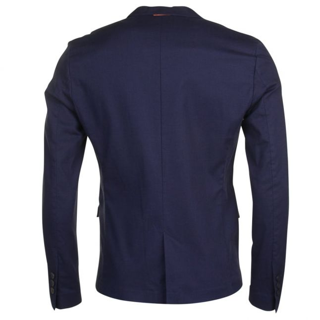 Boss Orange Mens Blue Tailored Benestretch7 Jacket